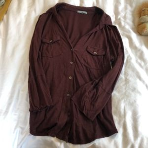 James Perse Button Up Blouse